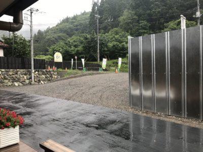 本降りの雨