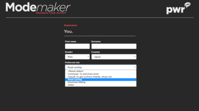 ユーザー情報登録